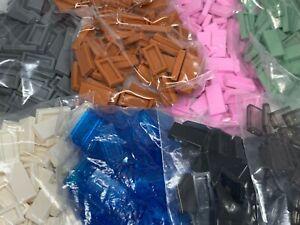 New - Lego 100 1x2 Tile - 3069 3069b - Choose - Black Grey White Green Blue Pink