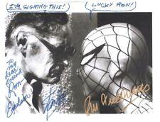 Ron Friedman autograph signed Stan Lee photo 1986 Transformers Movie writer COA