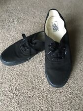Vans AUTHENTIC Black On Black Canvas Basic Mens Size 15 Shoes