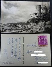 ANTIGUA POSTAL PALMA DE MALLORCA 1959 EL TERRENO VIEJOS MOLINOS BALEARES  CC3518