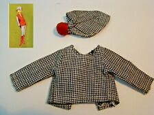 Houndstooth top and hat FAIRYLITE Lady Penelope doll outfit THUNDERBIRDS 1960s