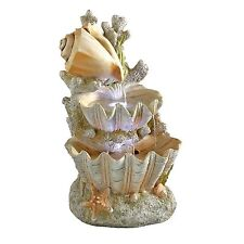 SS12719 - Ocean's Bounty Cascading Shell Garden Fountain - w/Light Kit & Pump!
