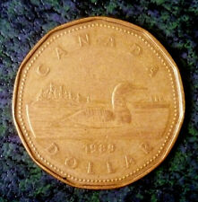Canada 1989 One Dollar QE II 'Loonie' Bronze 'Nice Details'.