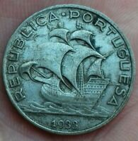 Portugal. 5 Escudos 1933 Argent/silver