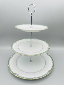 Vintage China Noritake Glenabbey Three Tier Cake Stand. Tea for 2 or 4