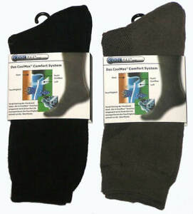 3 BRAND NEW PAIRS MENS SIZE 6-11 GREY & BLACK COOLMAX DRESS SOCKS