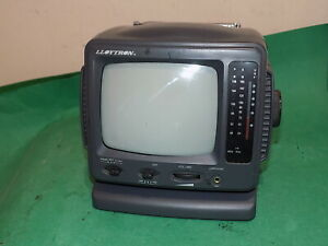 "LLOYTRON Mini Black & White TV 5"" CRT Screen with Radio T745 Untested Spares"