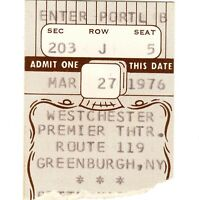 BETTE MIDLER Concert Ticket Stub GREENBURGH NY 1976 THE DEPRESSION TOUR Rare