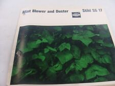 VINTAGE STIHL SG-17 MIST BLOWER AND dUSTER INSTRUCTION AND PARTS MANUAL...RARE
