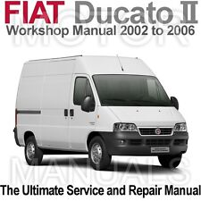 Fiat Ducato 2002 to 2006 (Type 244) Workshop, Service and Repair Manual on CD