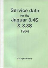 JAGUAR 3.4s & 3.8s MOTOR Trader servizio dati No. 422 PUB. by Wallage RISTAMPE