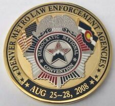 2008 Denver Police DNC Challenge Coin in original case (President Obama)  DPD