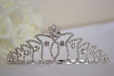Tiara wedding bride bridesmaid birthday pageant silver jewel diamante (7)