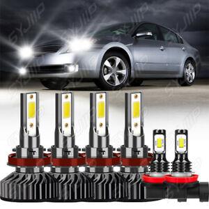 6x LED faro+luz antiniebla for Nissan Altima 2008 2009-2013 2014 2015 2016 2017