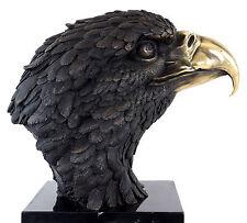 XXL Bronze Tierfigur - Seeadler auf Marmor - signiert Milo