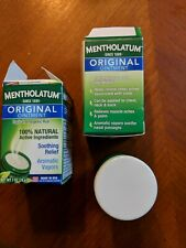 Set of 2. Damaged box. Mentholatum Ointment Jar 1 oz  by Mentholatum
