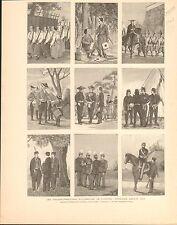 Japan Japanese Army Transformation Japon  FRANCE GRAVURE ANTIQUE OLD PRINT 1894