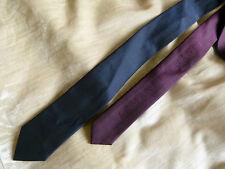 Armani Exchange reversible navy blue & burgundy tie - BRAND NEW