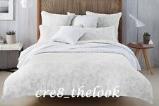 SHERIDAN CORALREEF JAQUARD DOVE SUPER KING QUILT COVER SET RRP $479.95