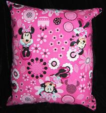 New Handmade Disney Minnie Mouse Pink Travel Toddler Pillow~Beautiful@