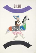 Original Vintage Poster Tomaszewski Poland Tourist Center 1966 Travel Horse