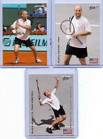 """""""3"""" ANDRE AGASSI U.S.A. 2003 NETPRO ROOKIE CARD LOT! W/H PETE SAMPRAS ROOKIE!"""