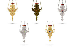 Orthodox Vigil Lamp Traditional Church Style +FREE Wicks Ikonenampel Ewiglicht