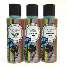 NEW 3 VICTORIA'S SECRET FLOWER TRIP FRAGRANCE BODY MIST SPRAY 8.4 OZ WATER LILY
