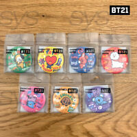 BTS BT21 Official Authentic Goods Character Badge 7SET By Kumhong Fancy + Track#