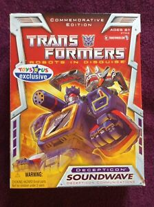 Transformers ,Commemorative Edition SOUNDWAVE, Toys R Us Exclusive MIB,US Seller