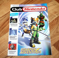 2002 Club Nintendo Magazine Star Fox Adventures Resident Evil Tomb Raider Mario