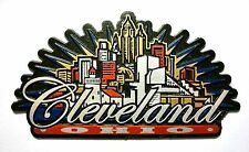 Cleveland Ohio Sunburst Fridge Magnet