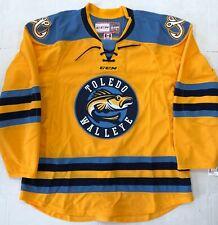 New Authentic Pro Stock CCM Toledo Walleye ECHL Hockey Player Jersey sz 56 7287