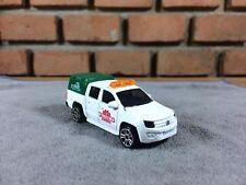 Majorette Volkswagen Amarok Pick up Car Model White Green Racing Diecast