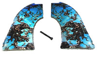 Fits Heritage Arms Rough Rider GRIPS .22 & .22 MAG Blue Turquoise Smooth finish