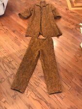 MRS H WINTER Rare Vtg Brown Avant Garde  Blanket Coat/ Pants Set Outdoor