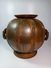 Gustave Serrurier Bovy (after) large modernist arts and crafts vase