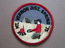 Mt Vernon District Spring 1975 BSA Woven Cloth Patch Badge Boy Scouts Scouting