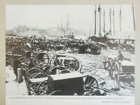 VINTAGE 11X14 PHOTO THE AMERICAN CIVIL WAR FALL OF RICHMOND, VIRGINIA 1865