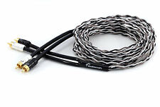 KnuKonceptz Krux Kable 2M Interlaced 3D Copper Twisted Pair RCA Cable 6.5FT
