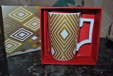 New Starbucks MUG ROSANNA 12oz 2013 Gold Diamond Holiday Xmas GIFT BOX GERMANY