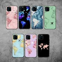 World Map Travel Passport Soft Case Cover Skin For Iphone 11 Pro X XS Max XR 7 8