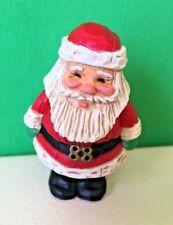 Hallmark 1988 Merry Miniature Santa Wood Carved Look