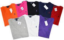 Ralph Lauren Damen Shirts V-Neck Classic T-Shirts 4 Farben 100%Baumwolle XS-XL