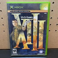 XIII THIRTEEN 13 ORIGINAL XBOX VIDEO GAME TESTED -COMPLETE W/ Manual-FAST SHIP