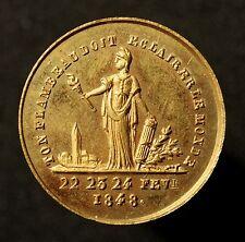 Frankreich, Medaille 1848, La République reconnaissante 23 et 24 Février, R!