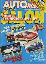 AUTO HEBDO n°542 du 1er Octobre 1986 SPECIAL SALON AX SPORT