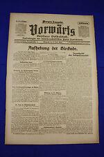 VORWÄRTS (9. Juli 1919): Aufhebung der Blockade