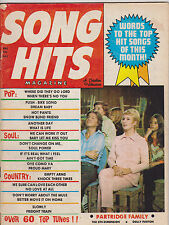 JULY 1971 - SONG HITS vintage music magazine --- PARTRIDGE FAMILY