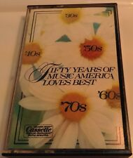 50 YEARS OF MUSIC AMERICA LOVES BEST Tape Cassette 1 PLEASURE PROGRAMMED DIGITAL